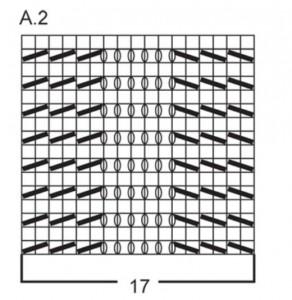 схема вязания юбки А 2