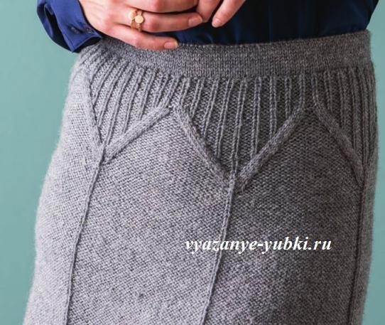 кокетка вязаной юбки