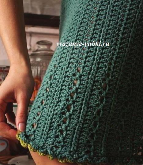 Резинка в юбке вязание 515