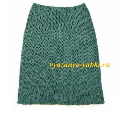 вязаная юбка крючком на весну или раннюю осень
