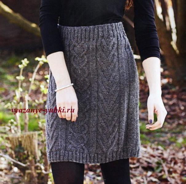 Красивый узоры спицами для юбки