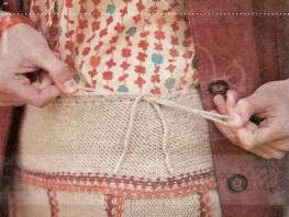кокетка юбки со шнурком