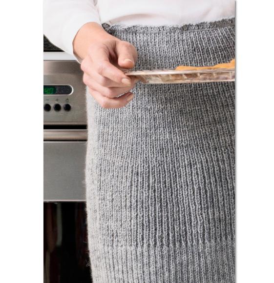 прямая вязаная юбка в резинку