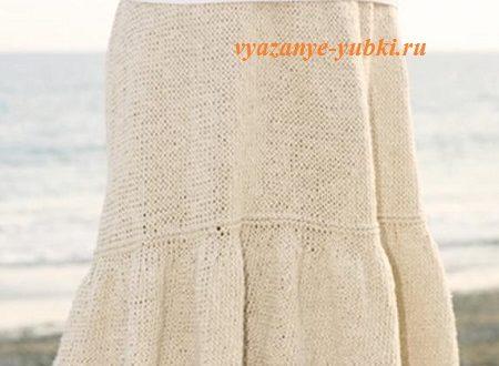 Вяжем юбку для начинающих